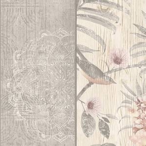 Belgravia Decor Rosa Smooth Fern Panel Blush and Grey Wallpaper
