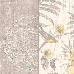 Belgravia Decor Rosa Smooth Yellow and Grey Wallpaper