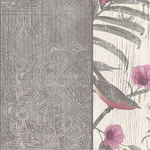Belgravia Decor Rosa Smooth Fern Panel Charcoal Wallpaper