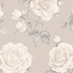 Belgravia Decor Rosa Smooth Floral Natural Wallpaper