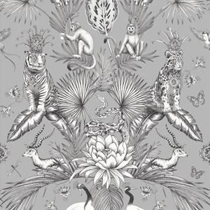 Belgravia Decor Menagerie Smooth Grey Wallpaper
