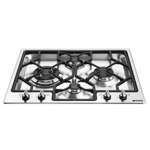 Smeg PGF64-4 Ultra Low Profile Gas Hob - Stainless Steel