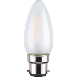 TCP LED Filament Frosted Candle 4W B22 Light Bulb