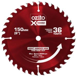 Ozito by Einhell Power X Change 150mm 36 Tooth Circular Saw Blade