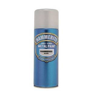 Hammerite Silver Grey - Hammered Exterior Aerosol Paint - 400ml
