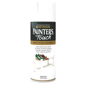 Rust-Oleum Satin Spray Paint - White - 400ml