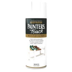 Rust-Oleum Satin Spray Paint - White - 400ml