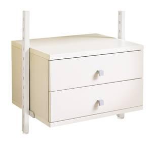 Aura Wardrobe Storage Small Drawer Kit (W)550mm White