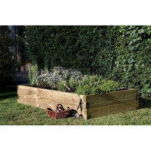 Forest Caledonian Wooden Raised Bed 180 x 90cm