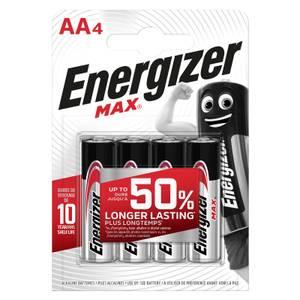 Energizer MAX Alkaline AA Batteries - 4 Pack
