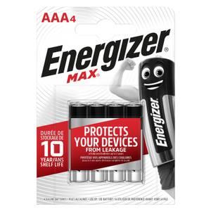 Energizer MAX Alkaline AAA Batteries - 4 Pack