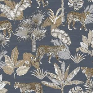 Grandeco life Jungle Fever Leopard Charcoal Wallpaper