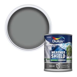 Dulux Weathershield Exterior Quick Dry Undercoat - Dark Grey - 750ml