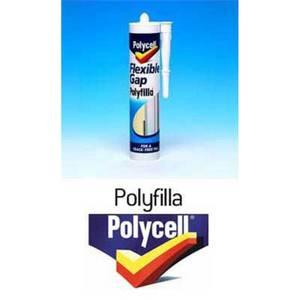 Polycell Kitchen & Bathroom Flexible Gap Polyfilla Tube - 330g