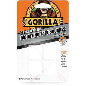 Gorilla Mounting Tape Clear 6x4 Squares