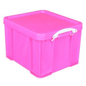 Really Useful Storage Box - Neon Pink - 35L
