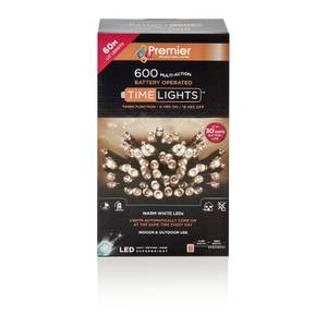 600 Multi - Action Battery Operated Timer Lights With Warm White LEDs