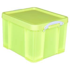 Really Useful Storage Box - Neon Yellow - 35L