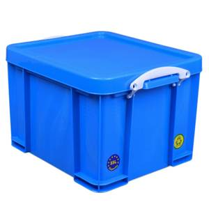 Really Useful Storage Box - Neon Blue - 35L