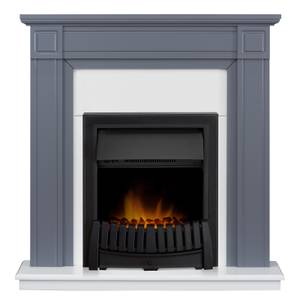Georgian Fireplace Suite In Grey & White