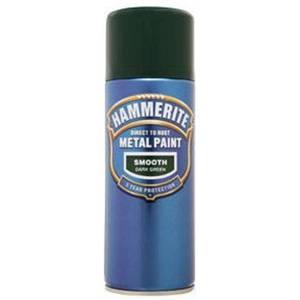 Hammerite Dark Green - Exterior Smooth Aerosol Paint - 400ml