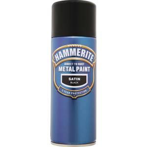 Hammerite Black - Satin Radiator Paint - 400ml