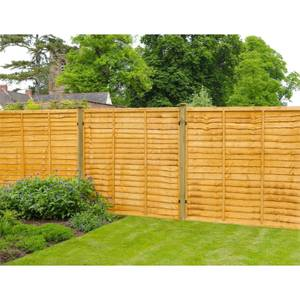 Forest Lap Fence Panel - 6x6ft
