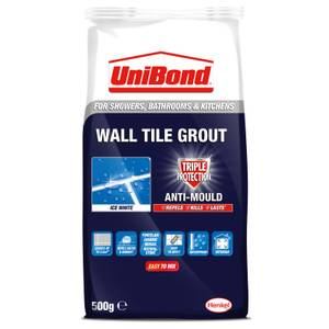 UniBond Triple Protection Anti-Mould Wall Tile Grout - Ice White