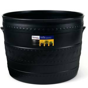 Plastic Patio Tub in Black - 35cm