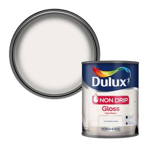Dulux Pure Brilliant White - Non Drip Gloss Paint - 750ml