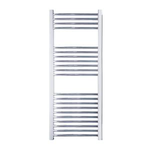 Electric Curved Towel Rail with 300W Standard Element - 500 x 1200mm - Chrome