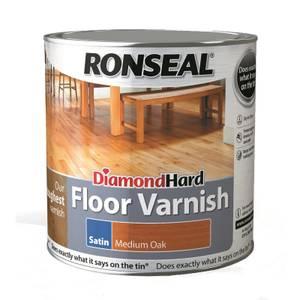 Ronseal Diamond Hard Floor Varnish Medium Oak- 2.5L