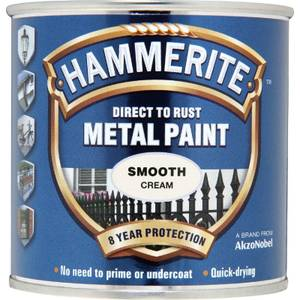 Hammerite Direct To Rust Metal Paint - Smooth Cream - 250ml