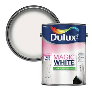 Dulux Brilliant White - Magic Pure Silk Emulsion Paint - 5L