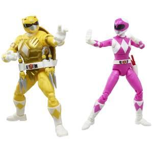 Hasbro Power Rangers X Teenage Mutant Ninja Turtles Morphed Michelangelo and Morphed April O'Neil Action Figures 2 Pack