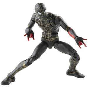 Hasbro Marvel Legends Series Black & Gold Suit Spider-Man 6 Inch Action Figure and Build-A-Figure Part