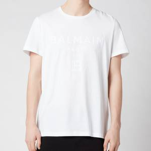 Balmain Men's Printed T-Shirt - White