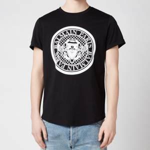 Balmain Men's Coin Flock T-Shirt - Black