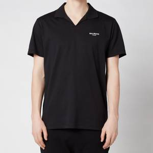Balmain Men's Eco Design Flock Polo Shirt - Black/White
