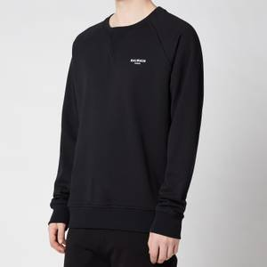 Balmain Men's Eco Design Flock Sweatshirt - Black/White