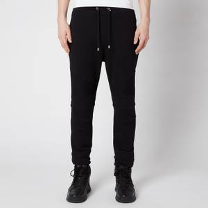 Balmain Men's Bi Colour Flock Sweatpants - Black