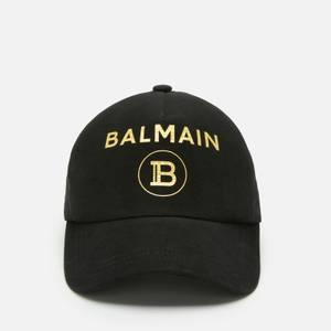 Balmain Men's Cotton Cap - Black/Gold