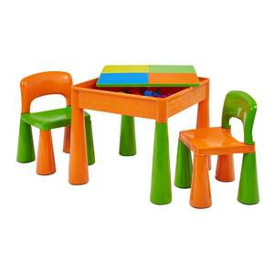 Green Orange Activity Table And 2 Chairs