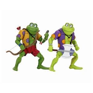 NECA Les Tortues Ninja Figurine articulée 18 cm Cartoon Genghis et Raspoutine Frog Ultimate Pack de 2