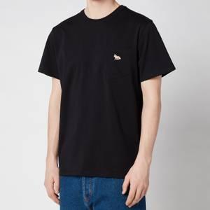 Maison Kitsuné Men's Profile Fox Patch Pocket T-Shirt - Black