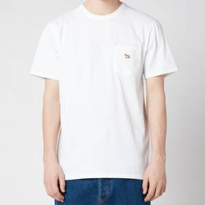 Maison Kitsuné Men's Profile Fox Patch Pocket T-Shirt - White