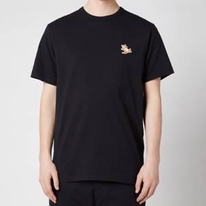 Maison Kitsuné Men's Chillax Fox Patch Classic T-Shirt - Black