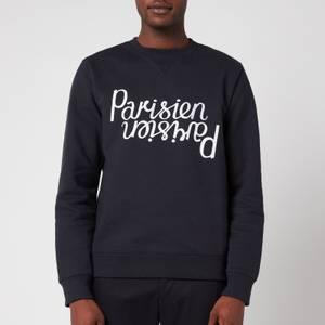 Maison Kitsuné Men's Parisien Reflection Sweatshirt - Dark Navy