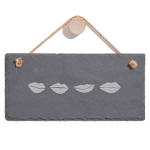 Lips Engraved Slate Hanging Sign