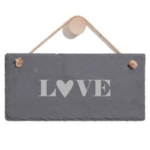 Love Engraved Slate Hanging Sign